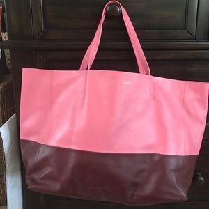 Celine Handbags - 💜authentic Celine new bi color cabs tote