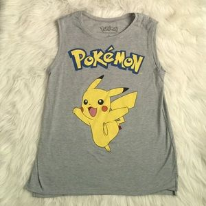 Pokemon Tops - Pokémon tank top. Pikachu tank top.Pokémon Pikachu