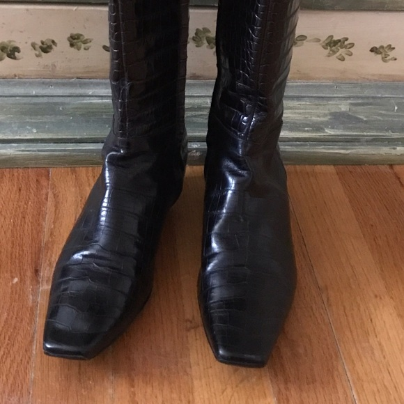 discount Manchester Christian Dior Leather Square-Toe Boots clearance for sale recommend sale online SjKy7d