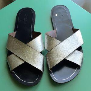 J. Crew Shoes - J. Crew Silver Cyprus Sandals