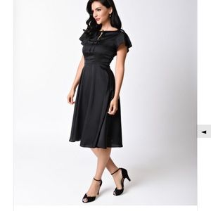 ModCloth Dresses & Skirts - Unique Vintage Black Retro 40's Dress
