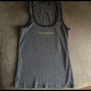 Mango knit tank women's sleeveless