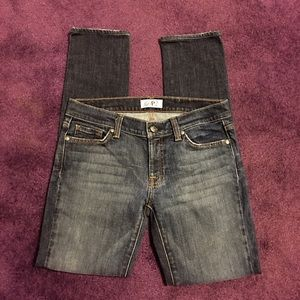 DPD Denim - DPD BLUE DENIM WASHED LOOK PENCIL LEG JEANS 28