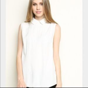 Brandy Melville white collared shirt