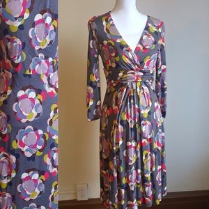 Boden Dresses & Skirts - Boden Abstract Floral Wrap Dress