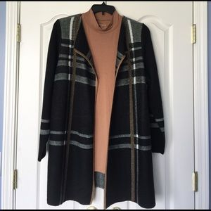 Charter Club Sweaters - Plaid duster cardigan