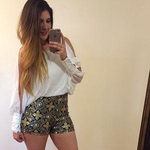 ShopBossyJocey Pants - •new• The Victoria Chiffon & Baroque Sequin Romper