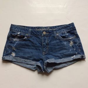 American Eagle Outfitters Pants - American Eagle Distressed Denim Jean Shorts