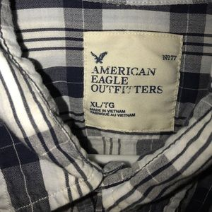American Eagle Outfitters Other - Men's American Eagle navy and white plaid shirt XL
