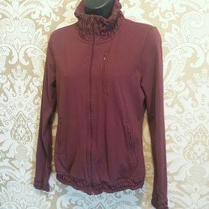 Prana Tops - Prana zip up jacket with gathered collar pockets