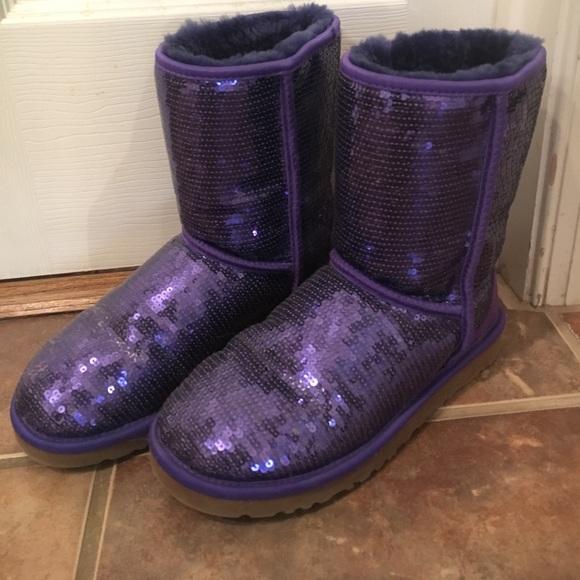 ugg purple sparkle
