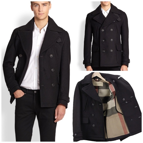 75c3b6f6d70 Alpine Swiss Jake Mens Pea Coat Wool Blend Double Breasted Dress Jacket  Peacoat 2xl Navy
