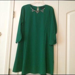Green semi-formal dress