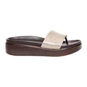 Donald Pliner Fiji Sandal Distressed Silver