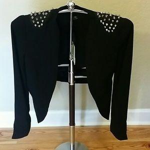 Bardot Jackets & Blazers - Women's Bardot Studette Black Blazer, Sz. S NWT