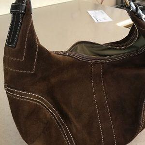 Coach Handbags - Coach Purse brown suede
