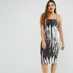 ASOS Curve Dresses & Skirts - New* ASOS Abstract Print Bodycon