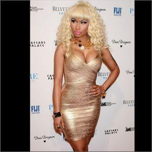 Herve Leger Dresses & Skirts - Gold bandage dress Sz Small just like Herve
