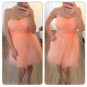 Dresses & Skirts - Peach tulle fluffy sleeveless dress