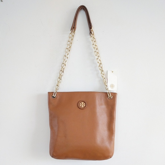 6fc619cf5870 Tory Burch Convertible Leather Crossbody Bag Bark