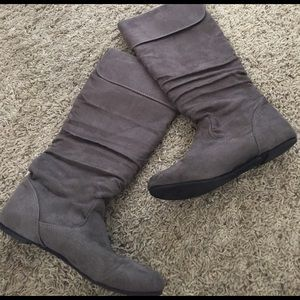 Candie's Shoes - Candies Grey Boots