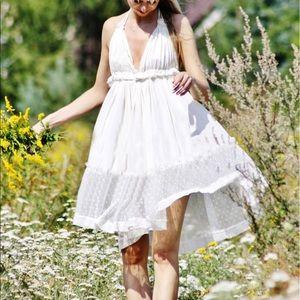 Dresses & Skirts - SheIn Cream Tiered Halter Dress