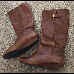 """Steve Madden Shoes - Steve Madden """"Intyce"""" Leather Cognac Boots"""