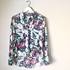 BCBGMAXAZRIA 'Emma' Silk Button up Blouse Shirt