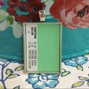Kendra Scott Jewelry - Light green recycled Pantone swatch pendant