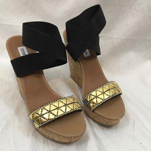 Steve Madden Shoes - Steve Madden Roper Platform Cork Wedge Sandal 7.5