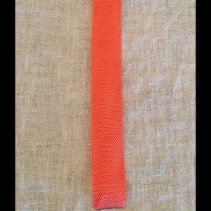 The Tie Bar Other - The Tie Bar Salmon Silk Knit Tie