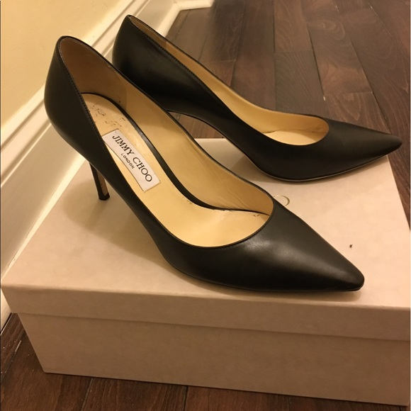 d0a46368fa Jimmy Choo Shoes - Jimmy Choo Romy 85 Pump in Kid Leather-Black