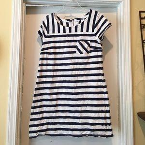 Old Navy navy/white striped dress