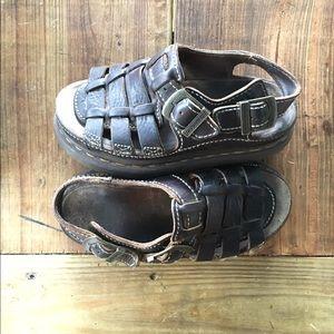 Dr. Martens Shoes - Vintage Dr Martens Leather Sandal Strappy 90s