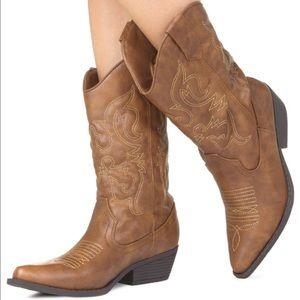 Just Fab Shoes - Just Fab mid calf cowboy boots