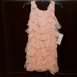 Biscotti Other - Biscotti NWT Coral Pink Tiered Lace Dress