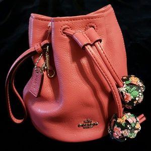 Coach Handbags - Coach Pebbled Leather Petal Wristlet NWT HOT PICK!