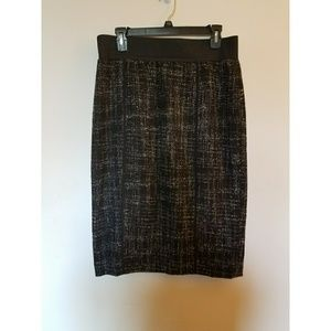Halogen Dresses & Skirts - EUC Black/White/Gray Halogen Tweed Skirt