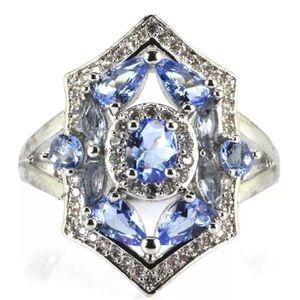 Jewelry - Rich Blue Violet Tanzanite, CZ, Beautiful Ring 😍