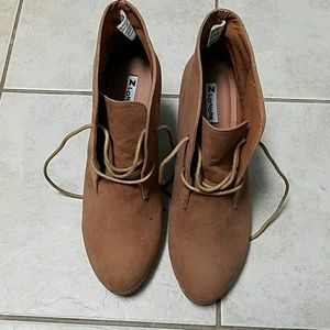 Shoes - Suede-like Booties