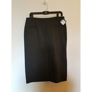 Halogen Dresses & Skirts - NWT Halogen Ponte Skirt w/side kick pleat