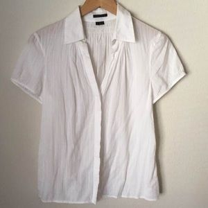 Theory Tops - Theory Button Down Short Sleeve Top Size Large