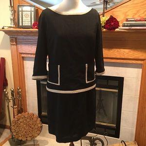 Evan Picone Dresses & Skirts - Evan Picone Coco Style Black and Tan dress