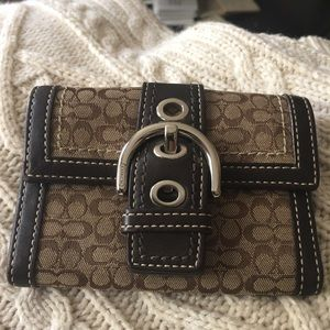 Coach Handbags - Coach small wallet in brown