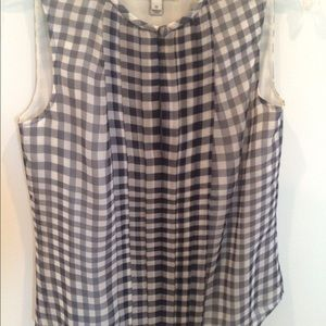 J. Crew Tops - J. Crew silk gingham top