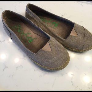Blowfish Shoes - Blowfish Malibu tan canvas flats size 10