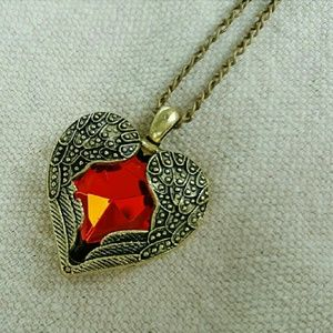 Sumni Jewelry - JUST IN: Crystal Heart Angel Necklace NWOT