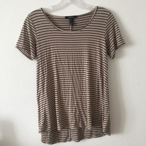 Forever 21 Tops - Brown & Navy Striped Tee