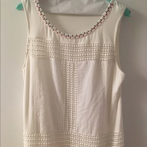 skies are blue Tops - Stitch fix Embroidered sleeveless top