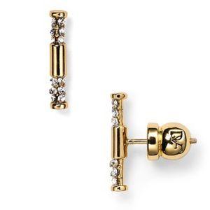 Diane von Furstenberg Pave Bar Earrings Retail $58